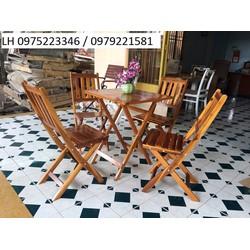 bộ bàn ghế cafe nhà hàng gỗ thông chắc lượng