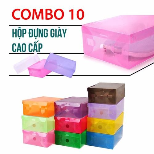 Combo 10 hộp đựng giày - hộp nhựa đựng giày - 10527192 , 8125292 , 15_8125292 , 95000 , Combo-10-hop-dung-giay-hop-nhua-dung-giay-15_8125292 , sendo.vn , Combo 10 hộp đựng giày - hộp nhựa đựng giày