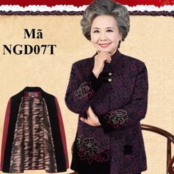 Áo khoác dạ lót nhung người già, người lớn tuổi NGD07T