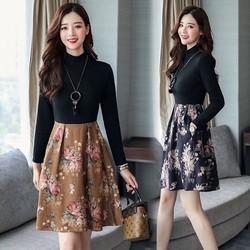 Đầm Xoè Chân Váy Hoa Cao Cấp - Hàng nhập loại 1