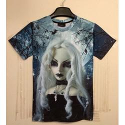 áo thun nam hình cô gái Mã: NT1021 - 2