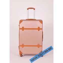 Vali kéo du lịch màu hồng size 28 inches