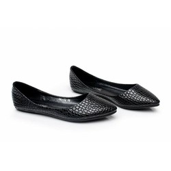 Giày búp bê đế bệt vân cá sấu dv912