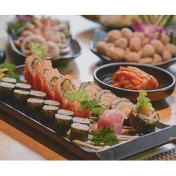 Buffet Lẩu Sushi  Ăn thả ga không lo về giá tại Agrill Beer House  BBQ