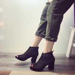 Giày cao gót hở mũi nữ