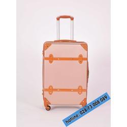 Vali kéo du lịch màu hồng size 24 inches