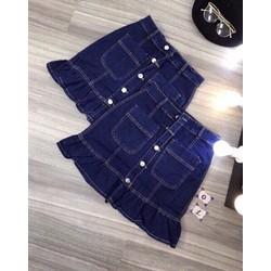 Chân váy jean có quần co dãn siêu xinh