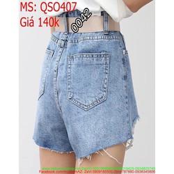 Quần jean short nữ rách nhẹ 2 bên cho nàng cá tính QSO407