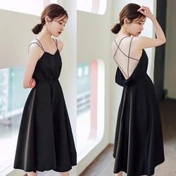 Đầm SATIN Khoét Lưng - Gợi Cảm và Sang Chảnh