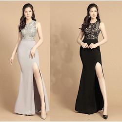 Đầm dạ hội cao cấp xẻ tà quý phái 3SIZE