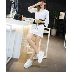 giày sneaker nữ siêu nhẹ mềm ,da cao cấp ,3 màu đen ,trắng ,hồng