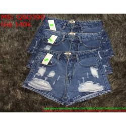 Quần jean short nữ rách xước và thời trang phong cách QSO390