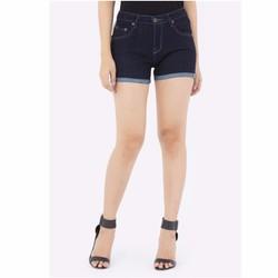 Quần short jean nữ lưng cao co dãn