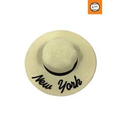 Nón cói nữ màu trắng New York sành điệu thời trang cao cấp