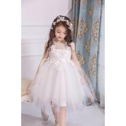 Đầm công chúa trắng tua rua cực xinh hàng nhập đẹp y hình