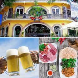 Buffet bia hai loại bia tươi Kozel tặng món nhậu-NH Canarval