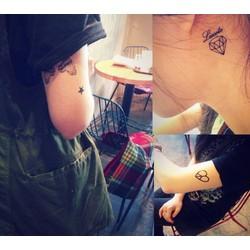 Combo 5 tấm hình xăm dán - tattoo dán bất kì