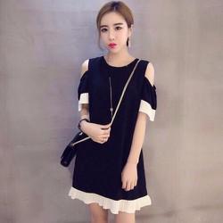 Đầm Suông Oversize Bèo Dập Ly Xinh Xắn