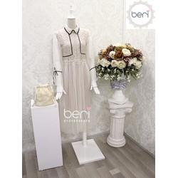 Đầm ren tiểu thư  Korea BERI kem