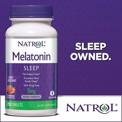 VIÊN GIÚP NGỦ NGON NATROL MELATONIN SLEEP 5MG 250VIÊN CỦA MỸ - Melatonin Sleep 250 viên