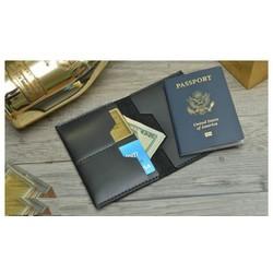 Ví da đựng passport handmade da bò thật