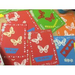 Set 5 thiệp handmade