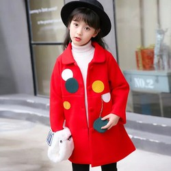 Áo khoác dạ cổ vuông sành điệu bé gái AK4