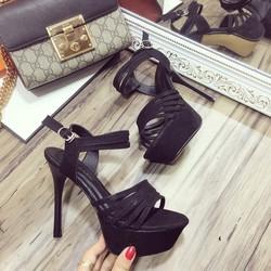 Giày sandal cao gót 12cm