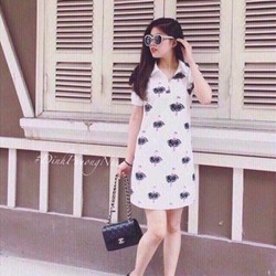 Đầm suông sơ mi 3D cực xinh