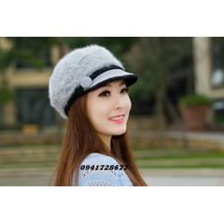 Mũ nón len lông thỏ ấm áp cho mùa thu đông