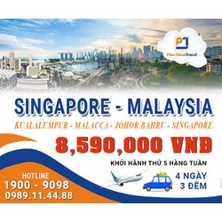 TOUR DU LỊCH SINGAPORE - MALAYSIA 4N3Đ - 1 ĐÊM SINGAPORE
