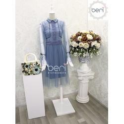 Đầm ren tiểu thư Korea BERI xanh