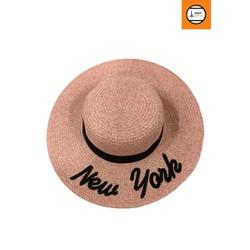 Nón cói nữ màu hồng đậm New York sành điệu thời trang cao cấp