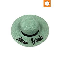 Nón cói nữ màu lục New York sành điệu thời trang cao cấp