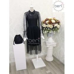 Đầm ren tiểu thư Korea BERI đen