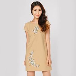 Đầm Suông Thời Trang Eden Họa Tiết Vẽ Tay Hoa Lớn - D225