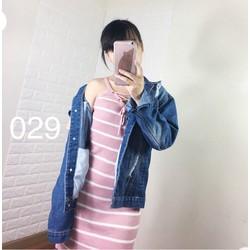 áo khoác jeans nữ rách