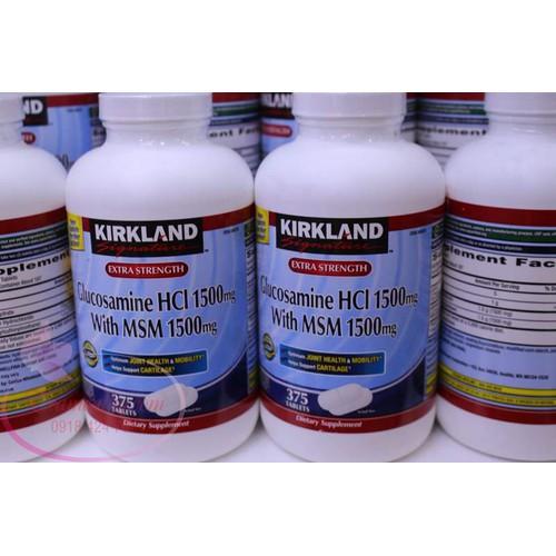 Viên uống bổ khớp Kirkland Glucosamine HCL 1500mg.