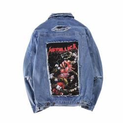 áo khoác jeans rách metallica Mã: NK1124 - XANH