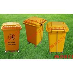 Thùng rác nhựa HDPE 60 lít loại đạp chân mở nắp