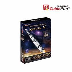 Mô Hình Gỗ 3D - Tên Lửa Vũ Trụ Saturn V