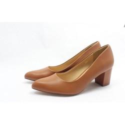 Giày cao gót  big size màu nâu bò thời trang sang trọng depvashock