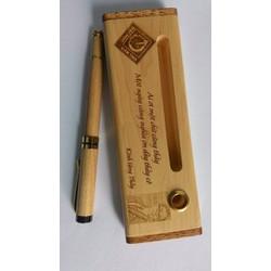 Hộp bút gỗ khắc tên| Quà tặng ngày nhà giáo Việt Nam 20-11