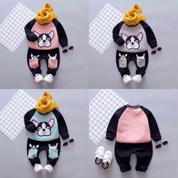 đồ bộ thu đông  áo quần cún cho bé