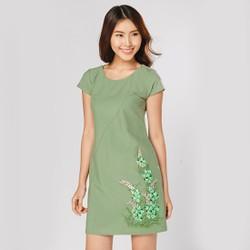 Đầm Suông Thời Trang Eden Họa Tiết Vẽ Tay Hoa Nhí - D226