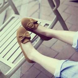 giày búp bê đính nơ hàng nhập