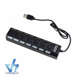 Hub USB 7p ổ điện có công tắc.