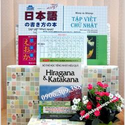 Sách học chữ cái tiếng Nhật - trọn bộ 4 cuốn