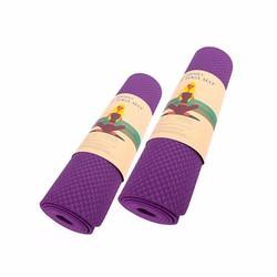 Bộ 2 Thảm tập Gym và Yoga Cao cấp TPE màu tím