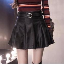 Chân váy xòe da nữ size S đến 2XL - giá 400k -#7149